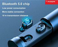 Беспроводные блютуз наушники Headset TWS S2 Plus 5.0 Bluetooth наушники с влагозащитой стерео гарнитура