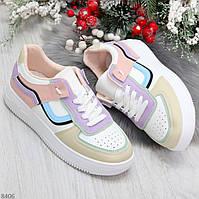 Яркие молодежные светлые женские кроссовки кеды мультиколор, фото 1