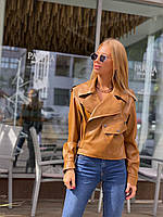 Куртка-косуха з шкірозамінника M&K Коричневий