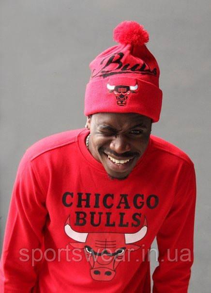 Свитшот красный мужской «Чикаго Буллз» Chicago Bulls   Кофта утепленный