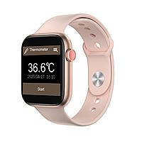 Смарт часы IWO FT50 с тонометром и термометром Розовый (swiwoft50ros)