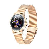 Умные часы Linwear LW20 Metal с тонометром Золотой