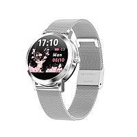 Умные часы Linwear LW10 Metal с пульсометром и мониторингом сна Серебристый