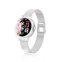 Умные часы Linwear LW06 Metal с измерением давления Серебристый