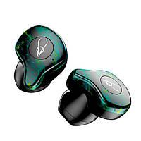 Беспроводные Bluetooth наушники Sabbat X12 Ultra Dream Stone c поддержкой aptX Черно-зеленый