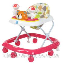 Ходунки детские Bambi M 3656 силикон 5 цветов. Мелодии. Игровая панель. Регулировка сиденья по высоте