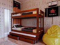 """Кровать детская двухэтажная деревянная 3 ярусная """"Трио"""""""