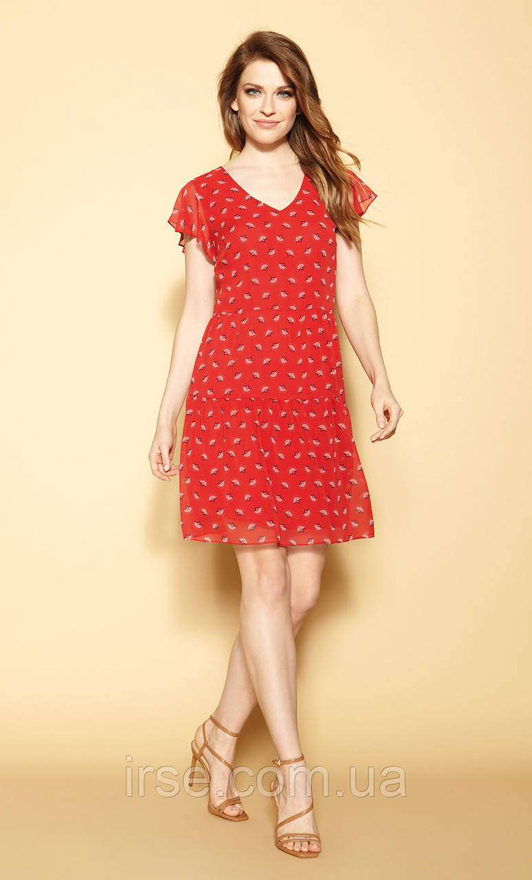 Zaps платье Yelda красного цвета, коллекция весна-лето 2021.
