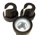 Ручка для змінного резистора R-05 чорна (гума), з покажчиком, фото 2