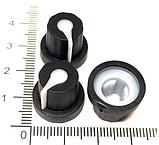 Ручка для змінного резистора R-05 чорна (гума), з покажчиком, фото 3