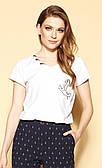Женская блуза Zoluda Zaps белого цвета, коллекция весна-лето 2021