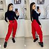 Стильные молодежные женские трикотажные брюки-джоггеры в спортивном стиле (р.42-46). Арт-2872/23