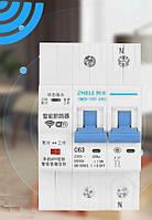 Розумний автомат захисту 16 А , з керуванням по WiFi,з вимірюванням даних , 2-полюсний, фото 1