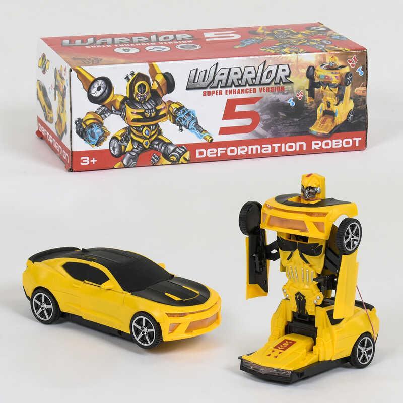 Машина-трансформер 20555 (96/2) на батарейках, свет, звук, в коробке