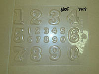 Молд для шоколада  Набор цифр 3D гориз.(код 04408)