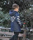 Детская джинсовая парка теплая, фото 2