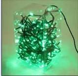 Электрическая елочная гирлянда на 200 LED-ламп зеленая для улицы