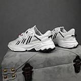 Мужские кроссовки в стиле Adidas Ozweego TR белые с чёрным, фото 6