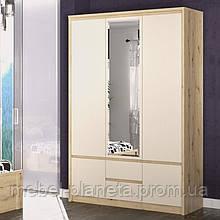 Шкаф распашной в спальню 3Д Доминика (Мебель-Сервис)