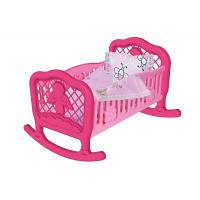 Колыбель для куклы ТехноК (розовая), Технок, мебель для куклы,домик для кукол,кукольные домики,игрушки для