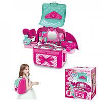 Игрушечное трюмо 008-963 с набором в рюкзаке, детская кухня игрушечная,игрушки для девочек,детская