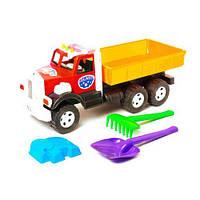"""Машинка """"Фарго Самосвал"""" с песочным набором (красная), Бамсик, машинка,детские машинки,машинки для мальчиков"""