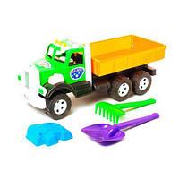 """Машинка """"Фарго Самосвал"""" с песочным набором (зеленая), Бамсик, машинка,детские машинки,машинки для мальчиков"""