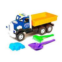 """Машинка """"Фарго Самосвал"""" с песочным набором (синяя), Бамсик, машинка,детские машинки,машинки для мальчиков"""