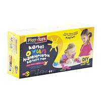 "Набор ""Фабрика теста: сделай сам"", Play Toys, наборы для творчества,детский пластилин,тесто для лепки"