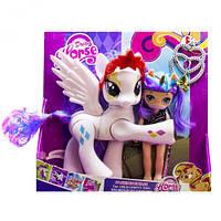 """Набор """"Dream Horse: лошадка и кукла-пони"""" (белая), лошадки пони,детские игрушки,пони,лошадка,куклы"""