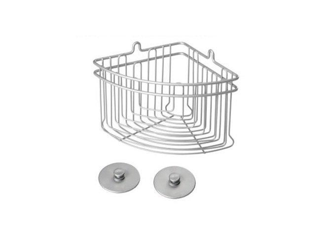 Полка METALTEX Artic угловая для ванной серый матовый металлик покрытие Polytherm Frost (402710)
