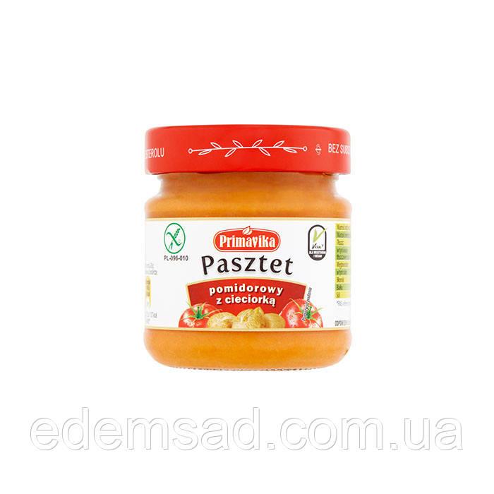 Паштет томатний з нутом, 160г БЕЗ ГЛЮТЕНУ (скло) Польща ОРГАНІК