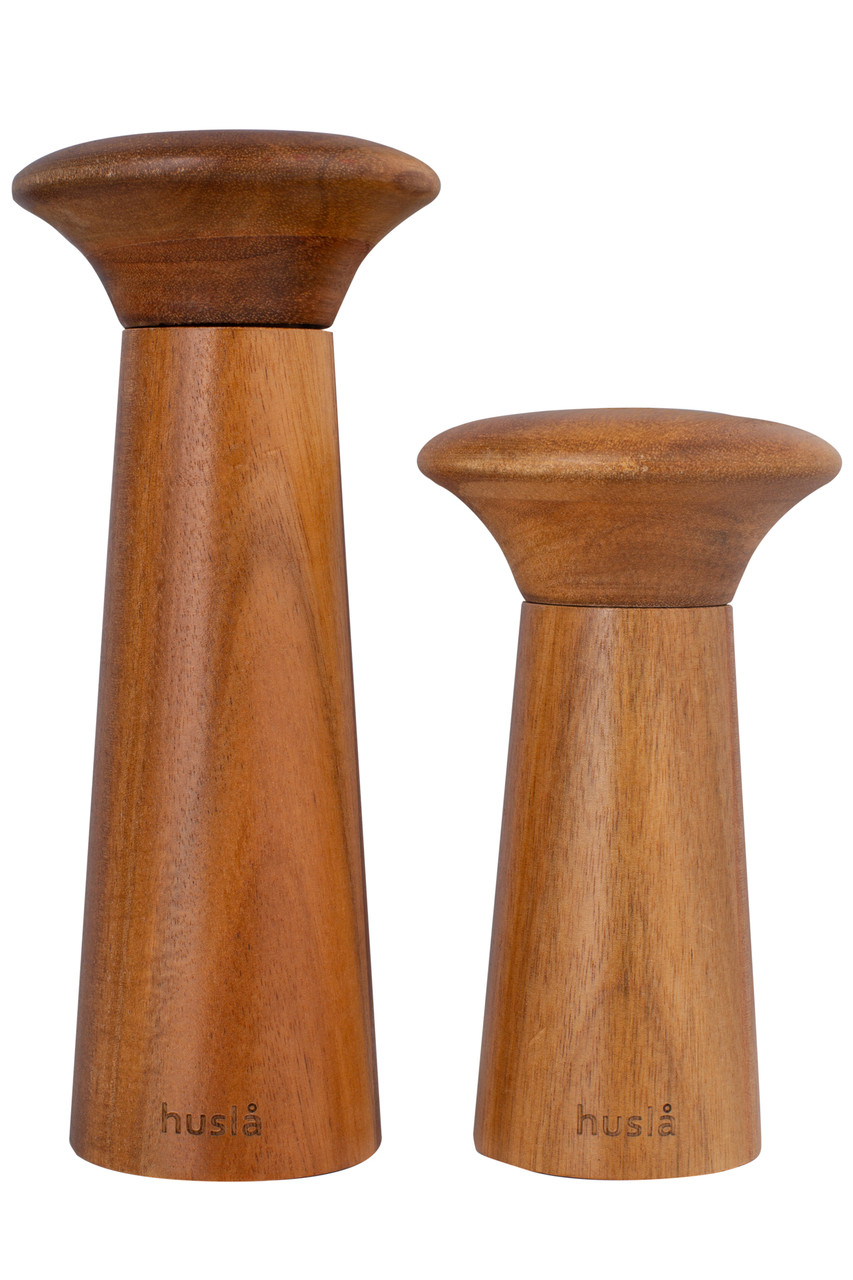 Набор мельниц для перца и соли, изготовленных из древесины акации Husla (73913)