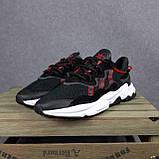 Чоловічі кросівки в стилі Adidas Ozweego чорні з червоним, фото 5