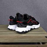 Чоловічі кросівки в стилі Adidas Ozweego чорні з червоним, фото 7