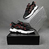 Чоловічі кросівки в стилі Adidas Ozweego чорні з червоним, фото 8