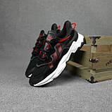 Чоловічі кросівки в стилі Adidas Ozweego чорні з червоним, фото 9