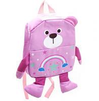 "Рюкзак детский ""Мишка"" (светло-розовый), рюкзак,сумки,городской рюкзак,рюкзаки школьные,рюкзаки женские"