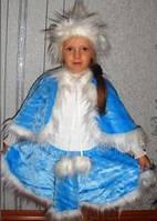 Новогодний костюм для девочки Снегурочка меховой 3-5 лет