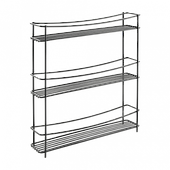 Полка METALTEX KUMINO-3 LAVA кухонная 3 секции 35х7х37 см черное покрытие Touch-Therm (360853)