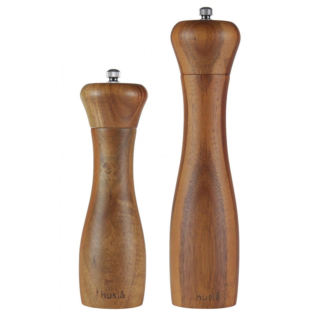 Набір млинів для перцю і солі, виготовлених з деревини акації Husla (73911)