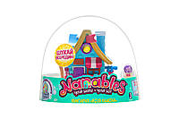 Набор Jazwares Nanables Small house Зимняя страна чудес Книжный магазин У камина (NNB0032)