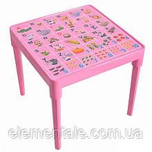 Стол детский Азбука английская Розовый
