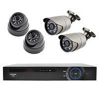 Комплект для видеонаблюдения KN007904DP Серый