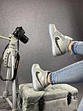 Мужские кроссовки в стиле Jordan 1 Retro High Dior белые с серым, фото 3