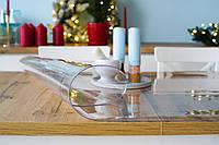 Мягкое стекло 1,5 мм, прозрачная пленка ПВХ на стеклянные и деревянные столы, ширина 70см