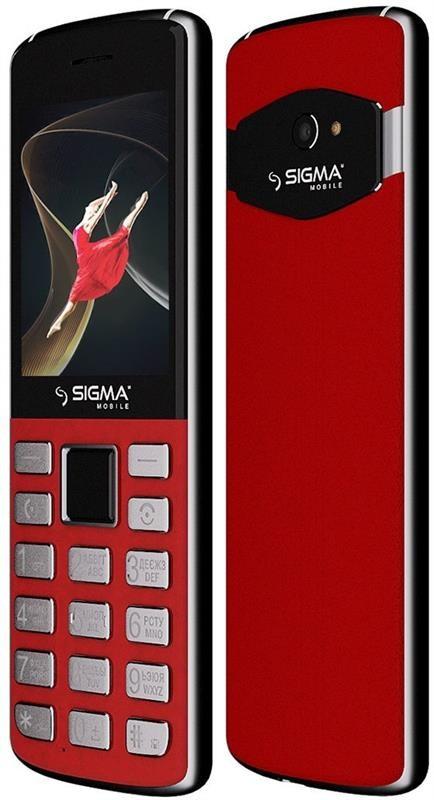 """Мобільний телефон Sigma mobile X-style 24 Onyx Dual Sim Red; 2.8"""" (320х240) TN / клавіатурний моноблок /"""