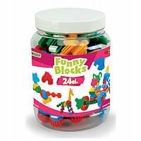 Wader Конструктор Funny blocks - 24 елемента (мала банка) 41940