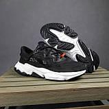 Жіночі кросівки в стилі Adidas Ozweego TR чорні на білому, фото 7