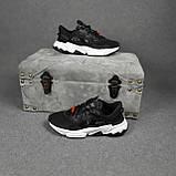 Жіночі кросівки в стилі Adidas Ozweego TR чорні на білому, фото 9